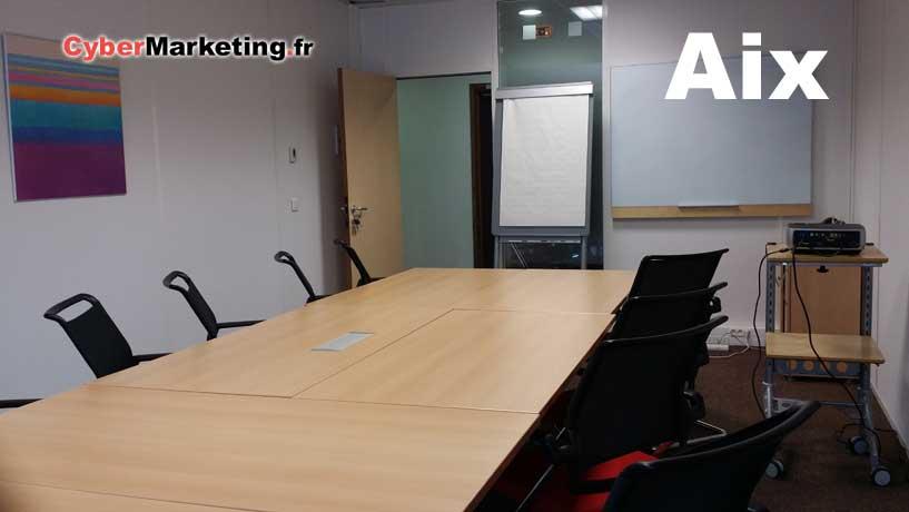 Formations au medias sociaux - Aix en Provence - Salle de formation - Cybermarketing.fr